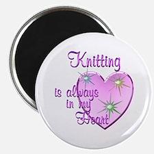 """Knitting Heart 2.25"""" Magnet (10 pack)"""