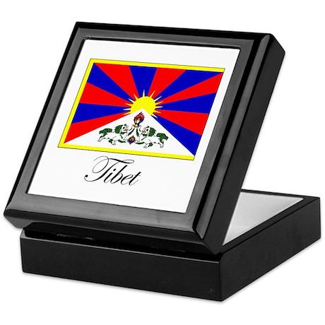 Tibet - Flag Keepsake Box