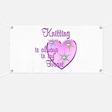 Knitting Heart Banner
