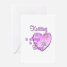 Knitting Heart Greeting Card