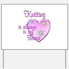 Knitting Heart Yard Sign