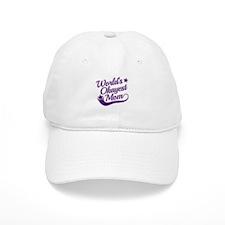 World's Okayest Mom Purple Baseball Cap