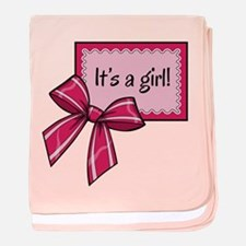 Its a girl! baby blanket