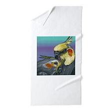 Cockatiels Beach Towel