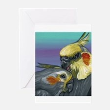 Cockatiels Greeting Cards