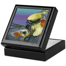 Cockatiels Keepsake Box