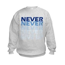 Never Give Up Blue Dark Sweatshirt