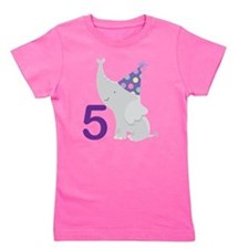 Cute Zoo animal birthday Girl's Tee