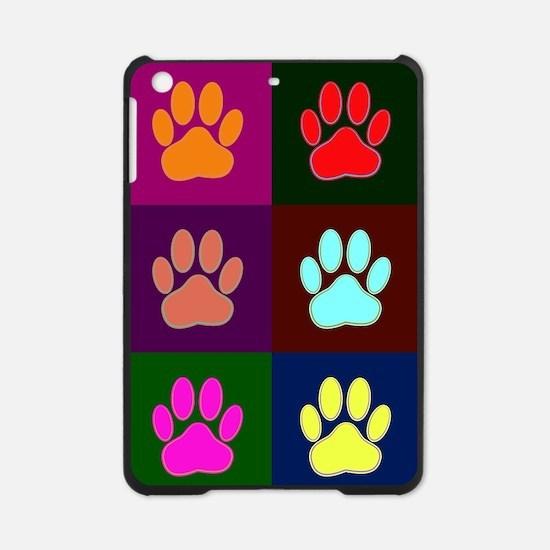 Andy Warhol Style Dog Paw Print iPad Mini Case