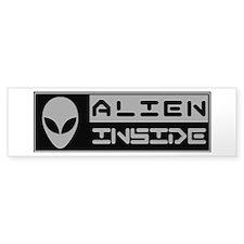 Alien Inside Gray Bumper Bumper Sticker