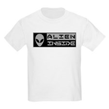 Alien Inside Gray T-Shirt