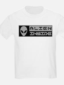 Alien Inside Gray T-Shirt
