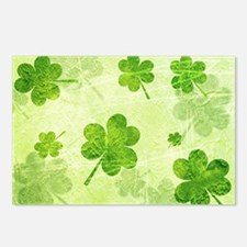 Green Shamrock Pattern Postcards (Package of 8)