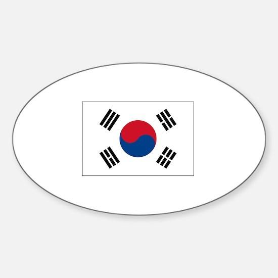 South Korea Flag Oval Decal