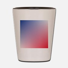 red white blue ombre Shot Glass