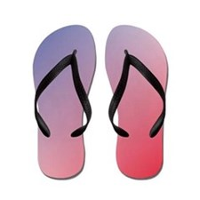 red white blue ombre Flip Flops
