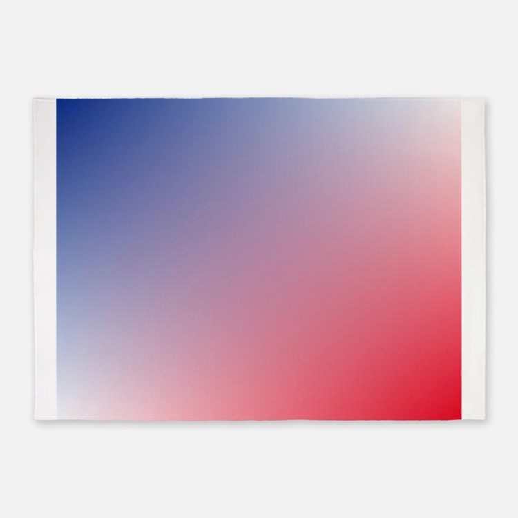 red white blue ombre 5'x7'Area Rug