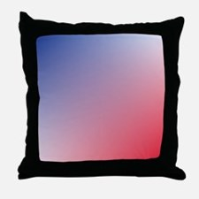red white blue ombre Throw Pillow