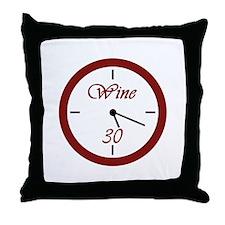 Wine 30 Throw Pillow