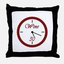 Wine 30 Throw Pillow