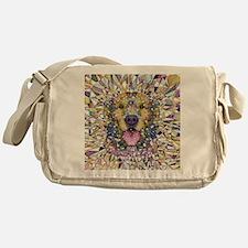 Rainbow Dog Messenger Bag