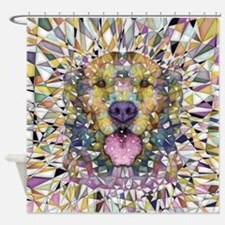 Rainbow Dog Shower Curtain