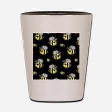 Bumble Bee Pattern Black Shot Glass