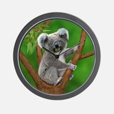Blue-Eyed Baby Koala Wall Clock