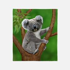 Blue-Eyed Baby Koala Throw Blanket