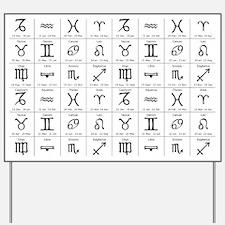 zodiac horoscope atstrology Yard Sign