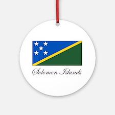 Solomon Islands - Flag Ornament (Round)