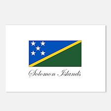 Solomon Islands - Flag Postcards (Package of 8)