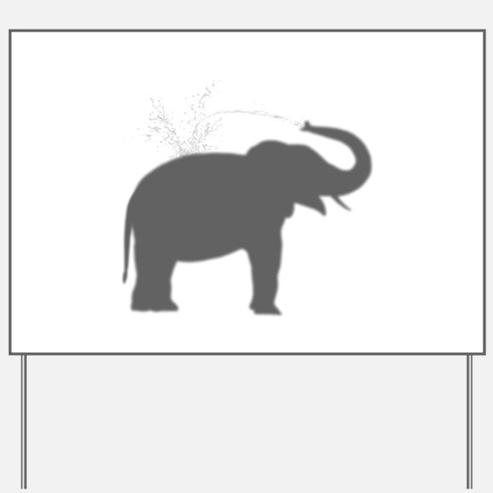 Elephant Silhouette Yard Sign