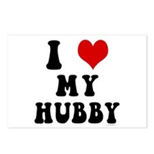I Love (Heart) My Hubby Postcards (Package of 8)