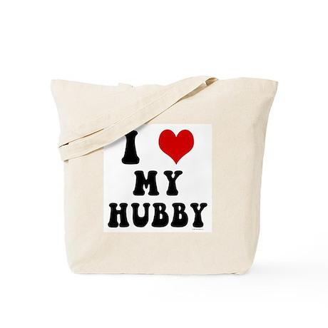 I Love (Heart) My Hubby Tote Bag