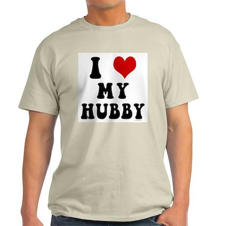 I Love (Heart) My Hubby Light T-Shirt