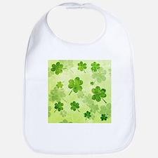 Green Shamrock Pattern Bib
