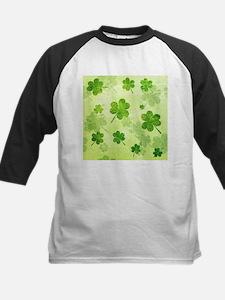 Green Shamrock Pattern Baseball Jersey