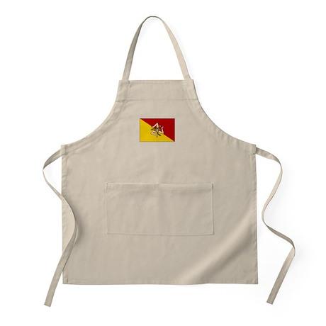 Sicily - Sicilian Flag BBQ Apron