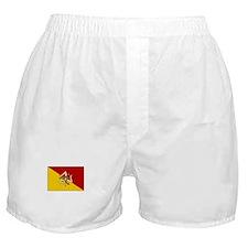 Sicily - Sicilian Flag Boxer Shorts