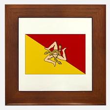 Sicily - Sicilian Flag Framed Tile