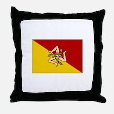 Sicily - Sicilian Flag Throw Pillow
