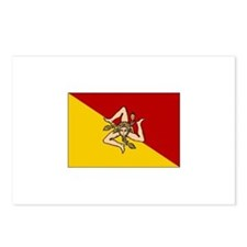 Sicily - Sicilian Flag Postcards (Package of 8)