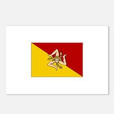 Sicily - Sicilian Flag Postcards (Package of 8)