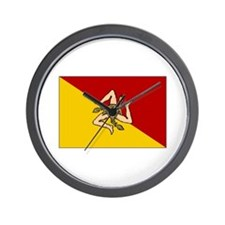 Sicily - Sicilian Flag Wall Clock