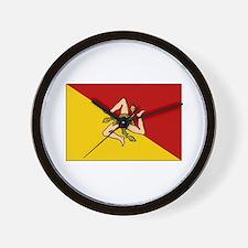 Sicily - Sicilian Flag Wall Clock