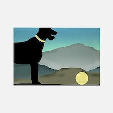 Irish Wolfhound Landscape Rectangle Magnet