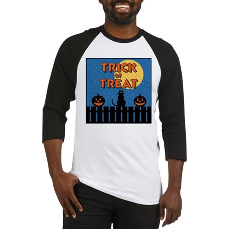 Trick or Treat Fence Baseball Jersey