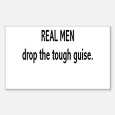 """Real Men"" Rectangle Decal"