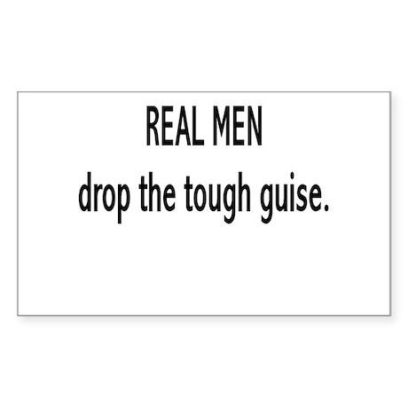 """Real Men"" Rectangle Sticker"